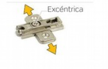 Base Bisagra Zamak Clip Regulable Con Excéntrica