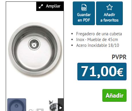 FREGADERO TEKA ERC 45 INOX