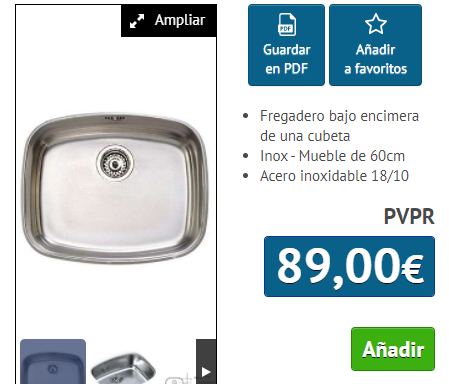 FREGADERO TEKA B.E. 50.40 INOX