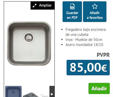 FREGADERO TEKA B.E. 40.40 INOX