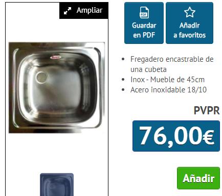 FREGADERO TEKA E50 -1C INOX