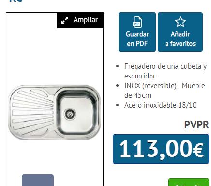 FREGADERO STYLO 1C 1E INOX