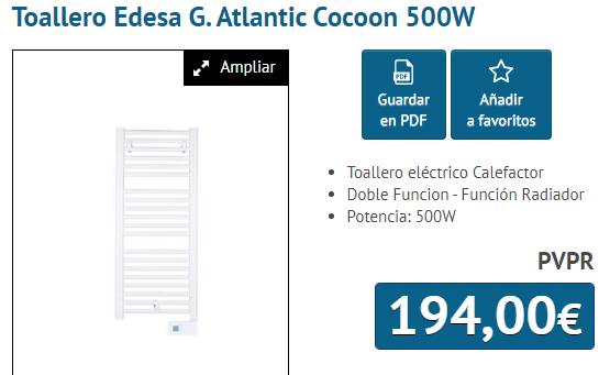 TOALLERO ELECTRICO 500W EDESA